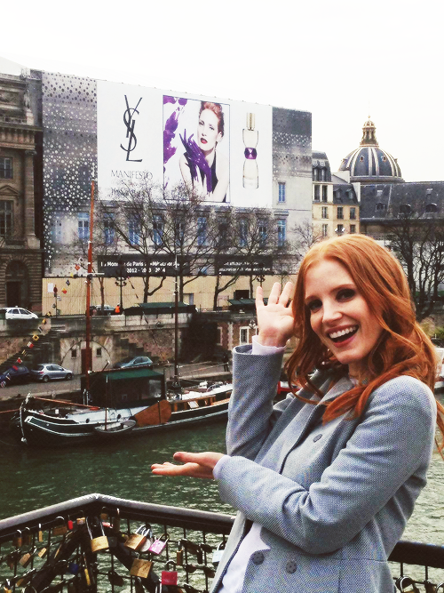 {Jessica Chastain's FB page}