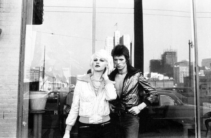 Cyrinda Fox with David Bowie